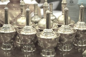 Close-Up Of Brass Handcrafts For Sale