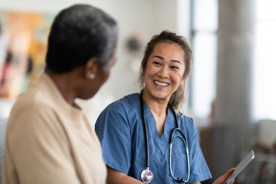 Doctor and patient having a conversation