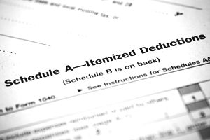 A form for tax deductions