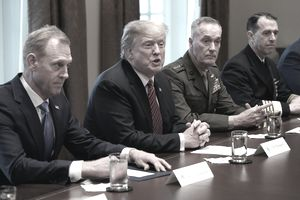 President Trump with the military