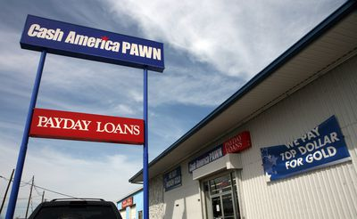 Payday loans and a pawn shop
