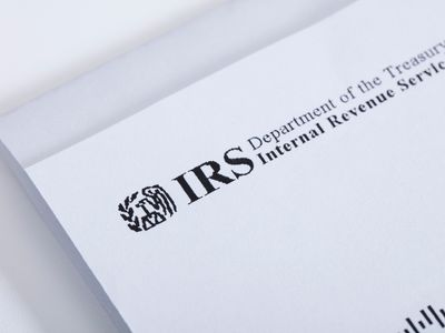 Closeup photo of a letter from the IRS