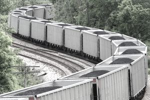 Coal Train carrying anthracite coal