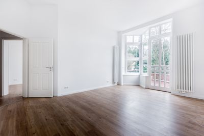 Empty room in a house or condo for sale.