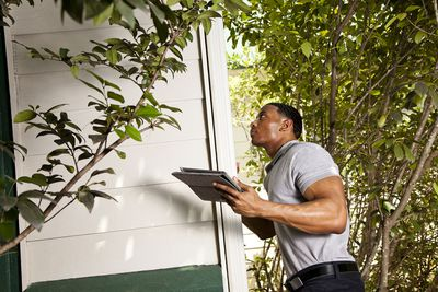 Home inspection on exterior