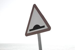 triangular road sign