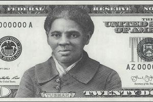 A mockup of the proposed new $20 featuring Harriet Tubman.