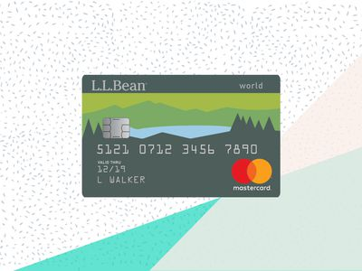 L.L.Bean Mastercard with background