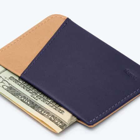 Simple Black Leather 4 Credit Card Wallet