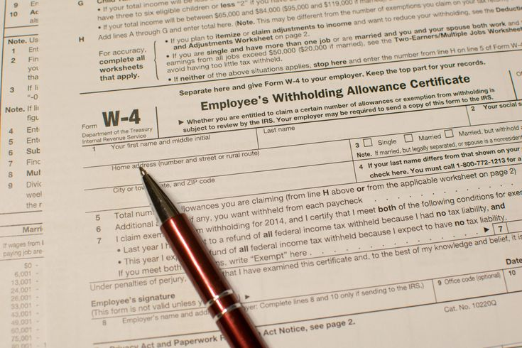 Reviewing The Withholding Election On Your Irs W 4 Form