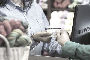 Business owner processing digital payment