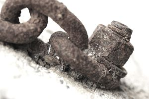 close up image of corroded metal parts