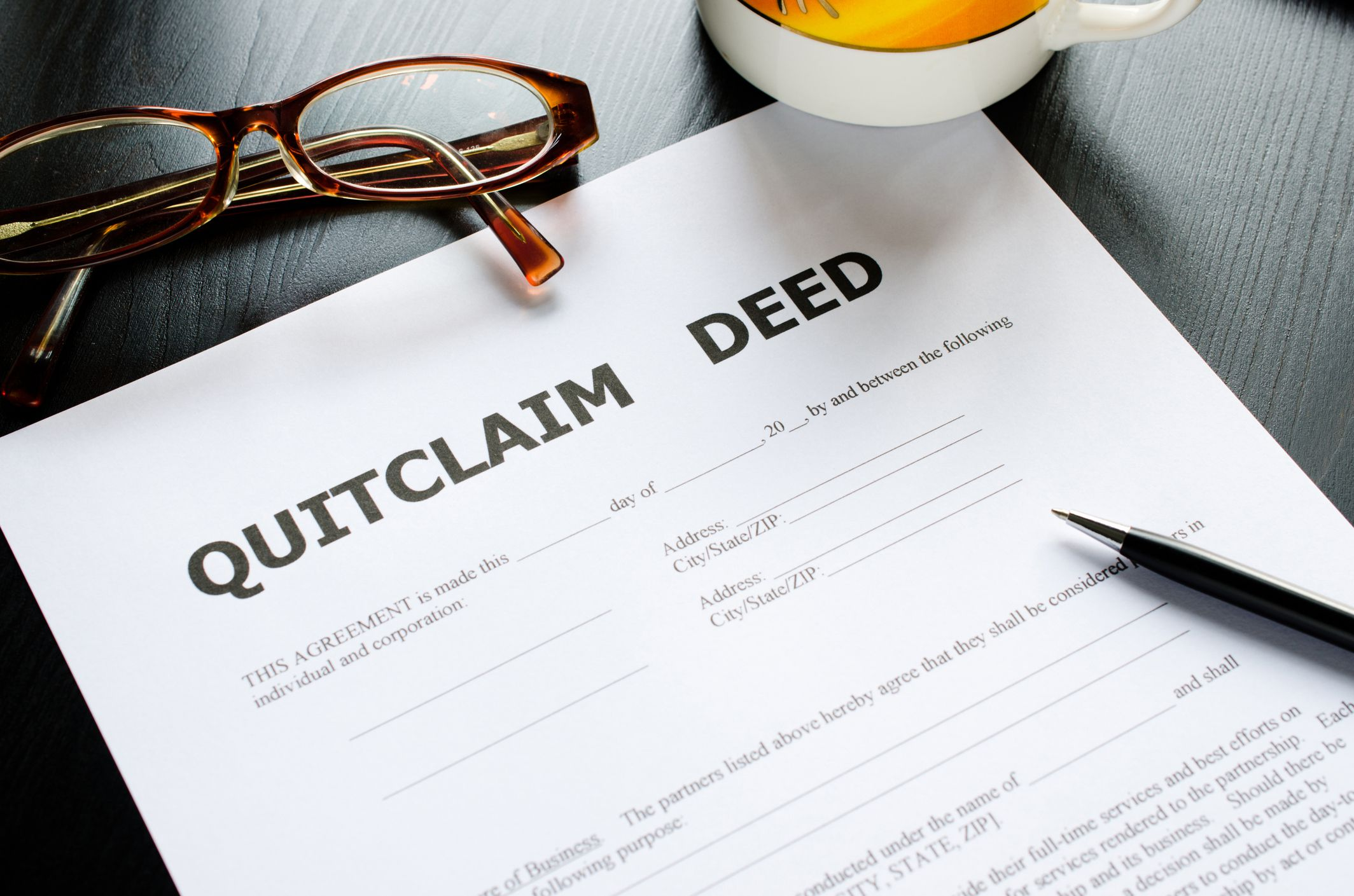 quitclaim deed definition and examples