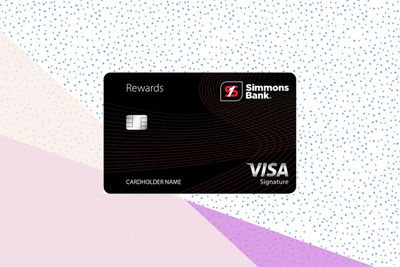 Simmons Rewards Visa Signature card image with background