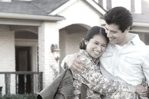 A soldier celebrates closing on a new home