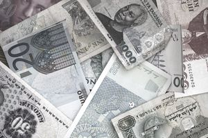 Full frame of various paper currencies