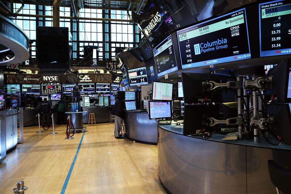 quiet trading floor before trading begins