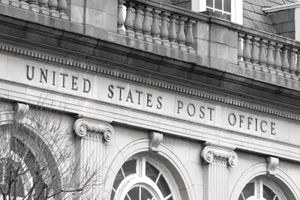 Old stone Post Office facade