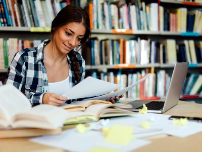 A college senior considers options for student loan repayment.