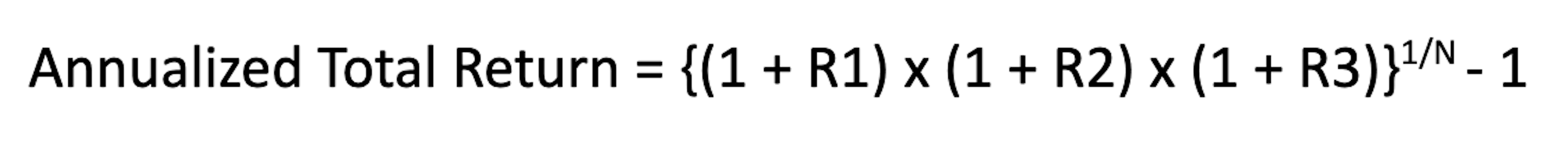 Annualized Total Return equation