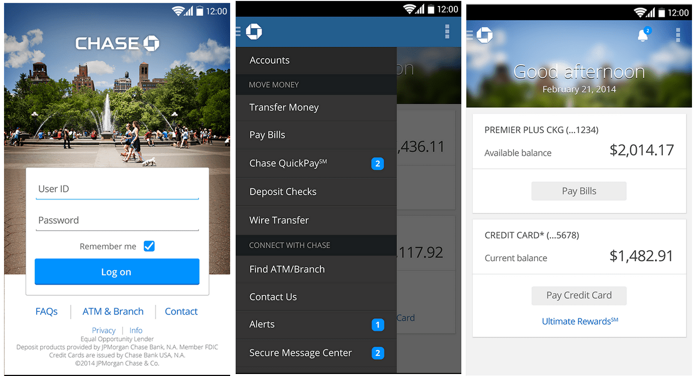 New Chase Mobile App for Android