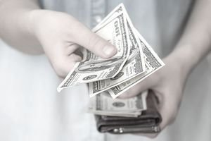 Using cash to pay for purchases
