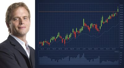 Peter Leeds With Trading Chart