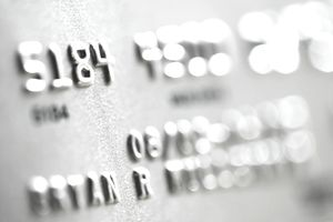 Numerals on Credit Card