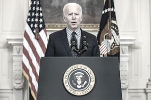 President Biden speaks following passage of the American Rescue Plan.
