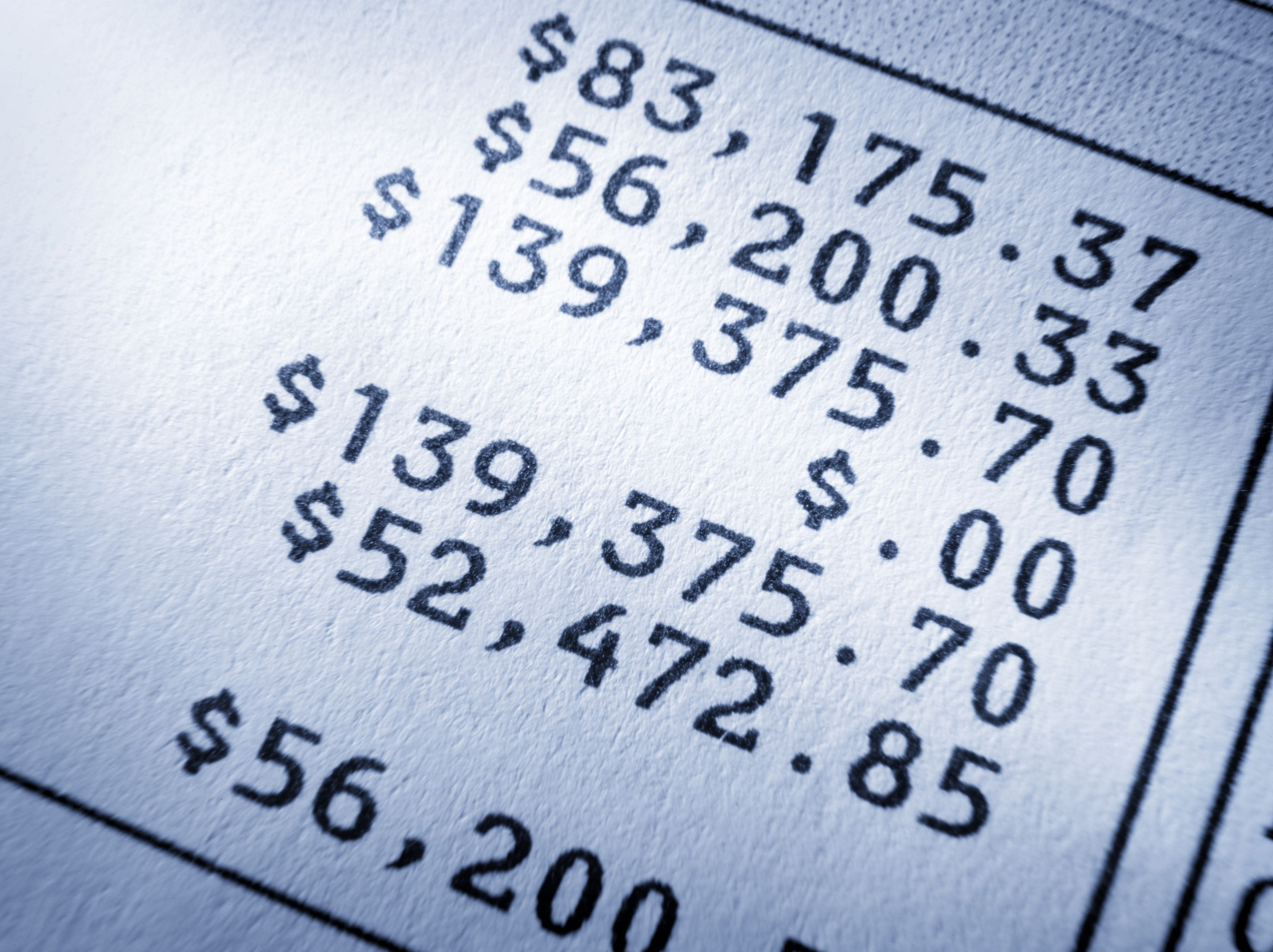 A calculation of net worth numbers