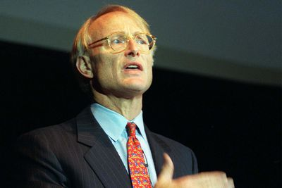 Michael Porter speaking at a technology conference
