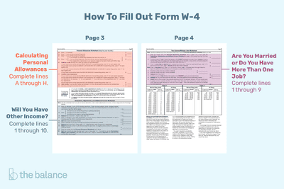 Tips for calculating allowances and preparing form w 4 how to fill out form w 4 ibookread PDF