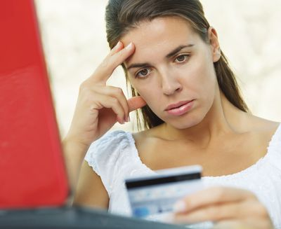 Woman with a low credit limit