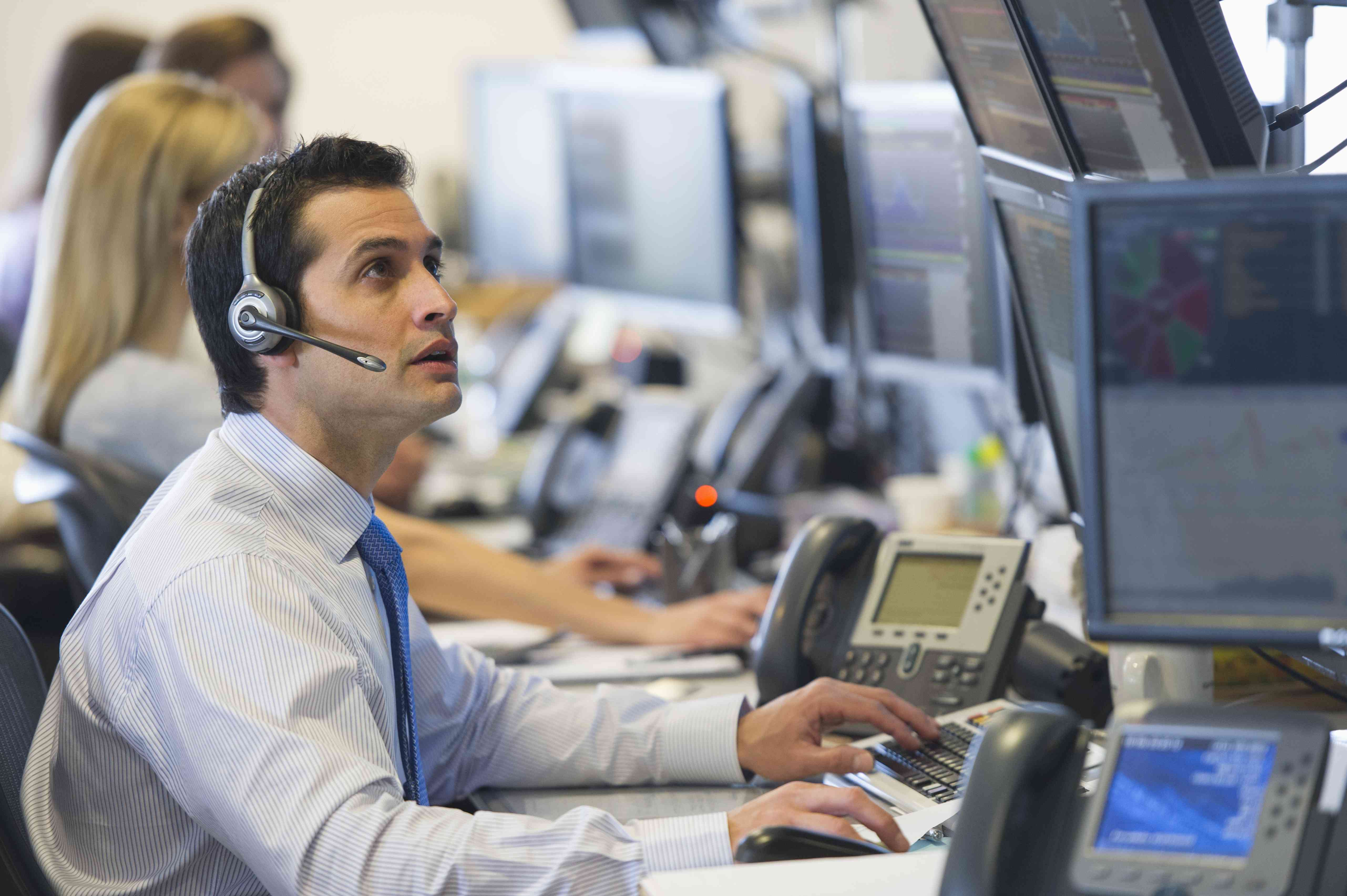 Traders at trading desks can work non-standard hours.