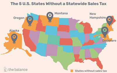 No State Income Tax States Map.The 10 Best And 10 Worst States For Property Taxes