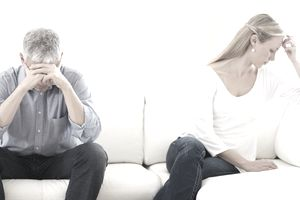 couple upset on couch