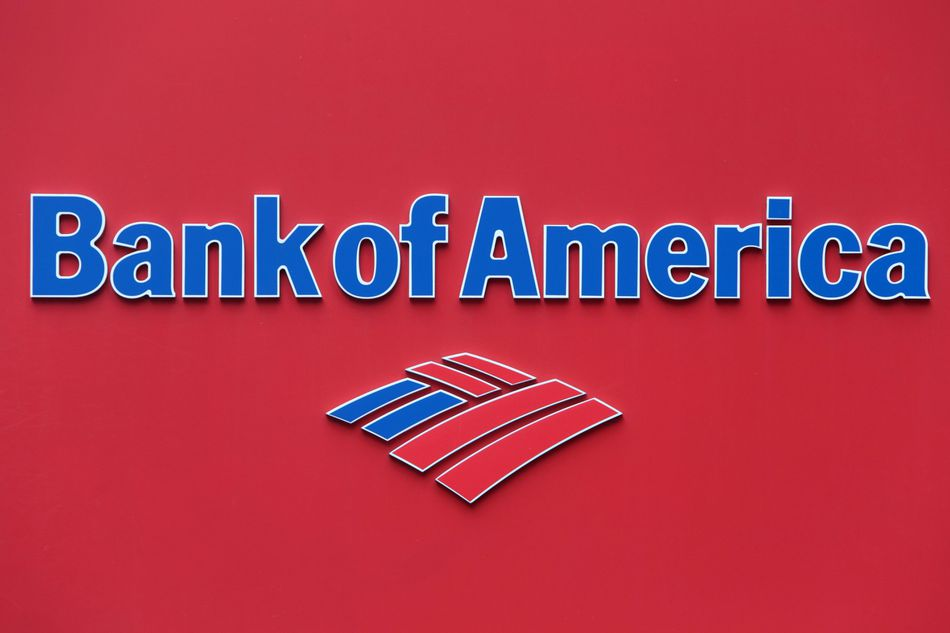 Logo : 'Bank of America'.