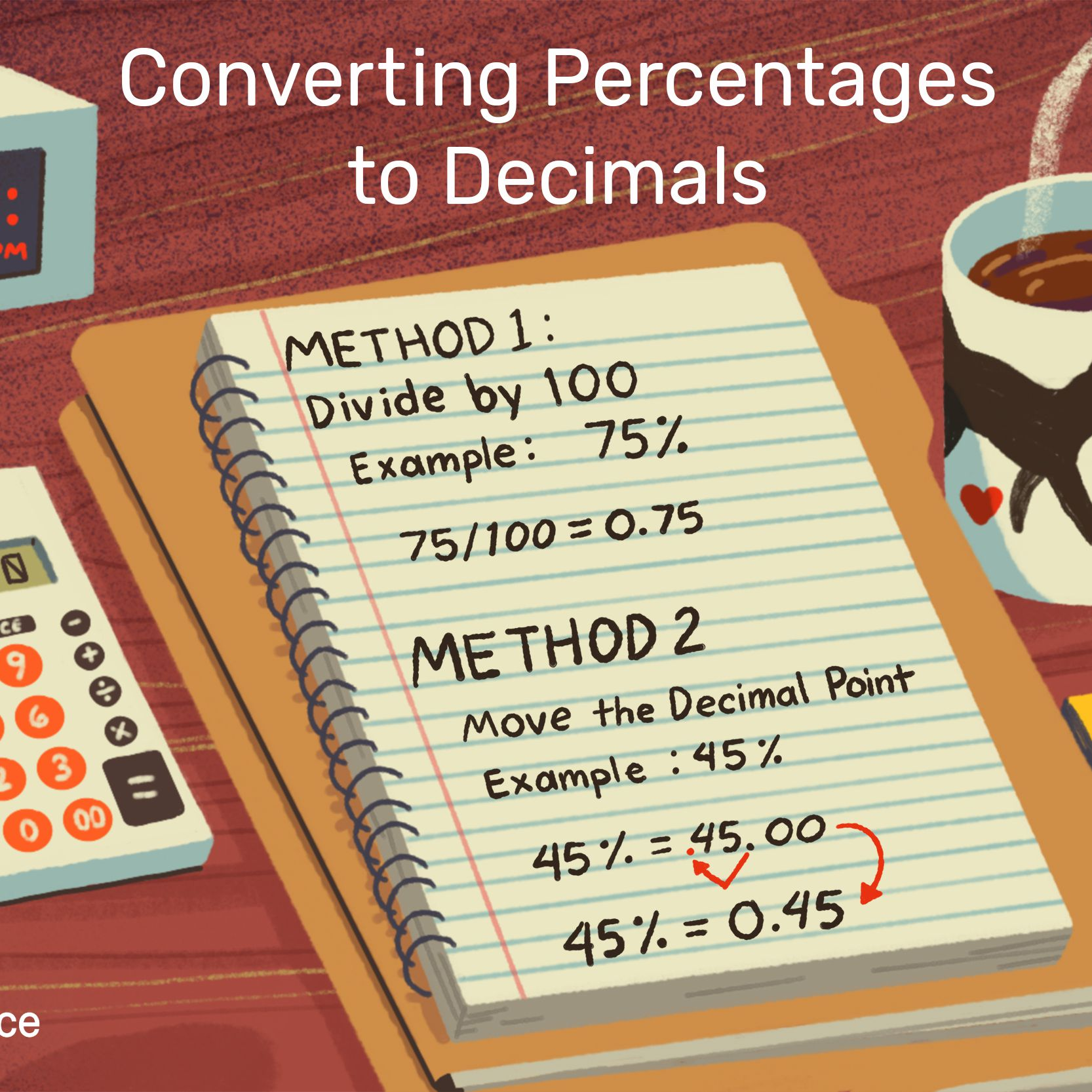 How to Convert Percentages to Decimals