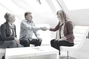 Mature Couple Meeting with Financial advisor