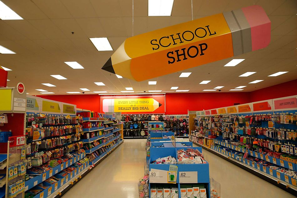 A picture of school supplies