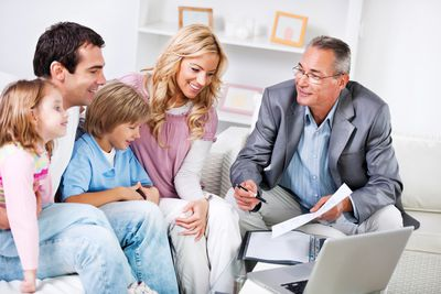 Family meeting with Insurance Agent.