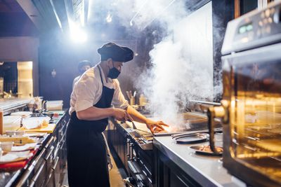 Chef Wearing Face Mask