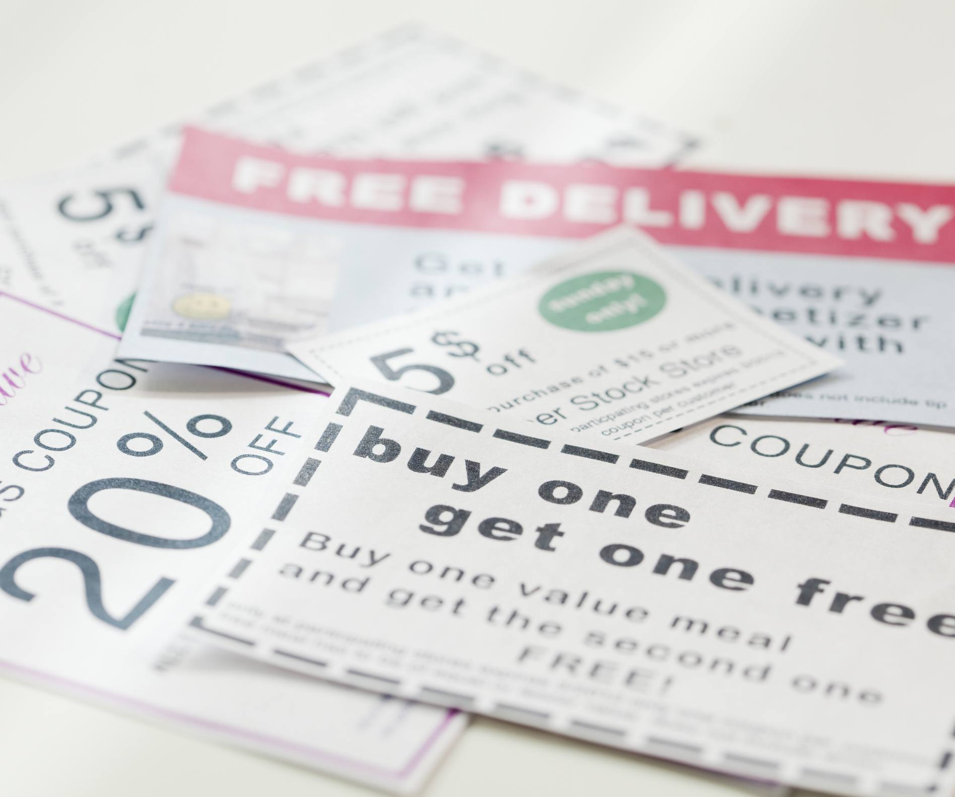 Assorted coupons