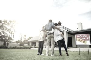 Family who bought a house
