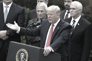 President Trump declares a national emergency related to the COVID-19 pandemic.