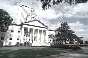 Florida, Tallahassee. Old And New State Capitol Buildings