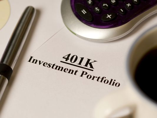 A 401(k) investment account.