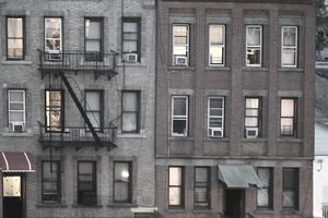 Tenements in Sunset Park, Brooklyn, New York City.