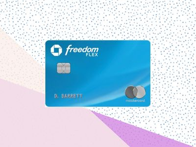 Chase Freedom Flex credit card on a pastel background