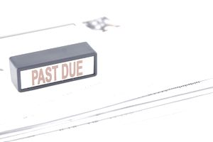 Past due bills and stamp